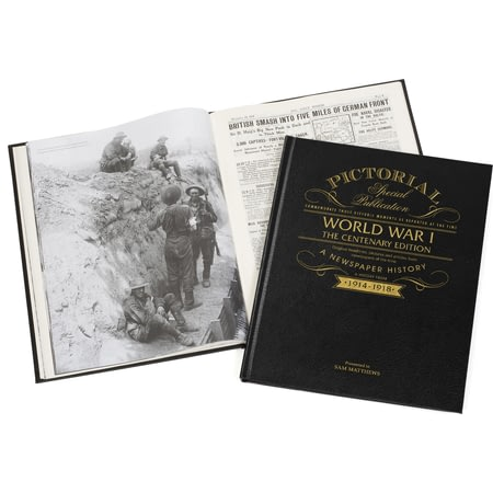 Personalised WW1 Centenary Pictorial Edition Newspaper Book