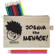 Personalised Beano Big Heads Dennis Pencil Case & Pencils