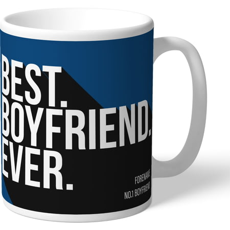 Personalised Cardiff City Best Boyfriend Ever Mug