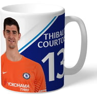 Personalised Chelsea FC Courtois Autograph Mug