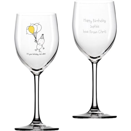 Personalised Chilli & Bubble's Birthday Wine Glass