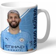 Personalised Manchester City FC Aguero Autograph Mug