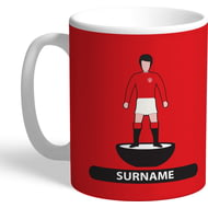 Personalised Manchester United Player Figure Mug