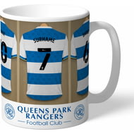 Personalised Queens Park Rangers FC Dressing Room Shirts Mug