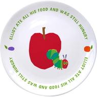 "Personalised Very Hungry Caterpillar Still Hungry 8"" Ceramic Plate"