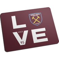Personalised West Ham United FC Love Mouse Mat