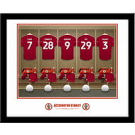 Personalised Accrington Stanley FC Dressing Room Shirts Framed Print