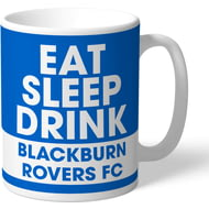 Personalised Blackburn Rovers FC Eat Sleep Drink Mug