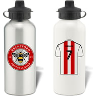 Personalised Brentford FC Shirt Aluminium Sports Water Bottle