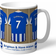 Personalised Brighton & Hove Albion FC Dressing Room Shirts Mug