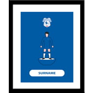 Personalised Cardiff City Player Figure Framed Print