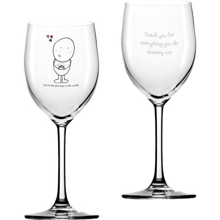 Personalised Chilli & Bubble's Mother's Day Wine Glass