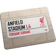 Personalised Liverpool FC Street Sign Mouse Mat