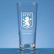 Personalised Aston Villa FC Crest Beer Pint Glass