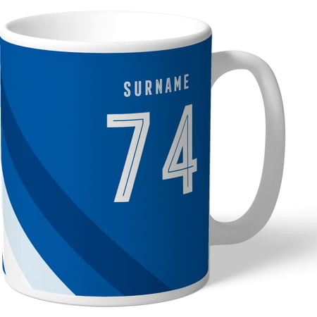 Personalised Cardiff City Stripe Mug
