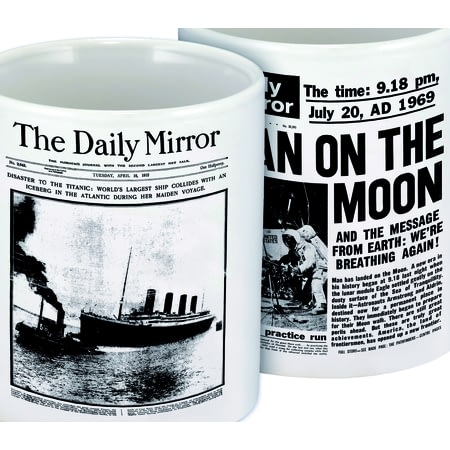 Personalised Front Page Newspaper Ceramic Mug