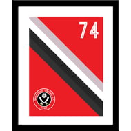 Personalised Sheffield United FC Stripe Framed Print