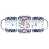 "Personalised Star Wars Classic ""Merry Force Be With You"" Christmas Mug"