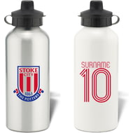 Personalised Stoke City FC Retro Shirt Water Bottle