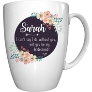 Personalised Can't Say I Do Without You Floral Ceramic Mug