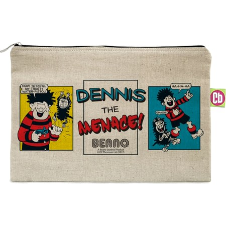 Personalised Beano Classic Comic Strip Water Pistol Canvas Pencil Case