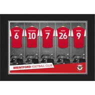 Personalised Brentford FC 9x6 Dressing Room Shirts Photo Folder