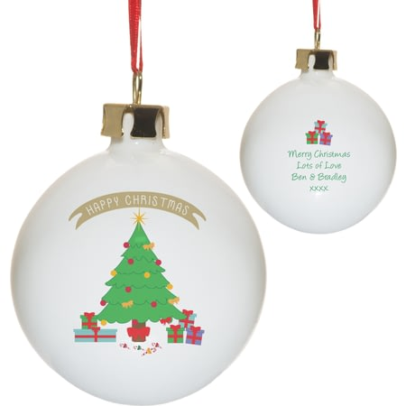 Personalised Christmas Tree Ceramic Bauble