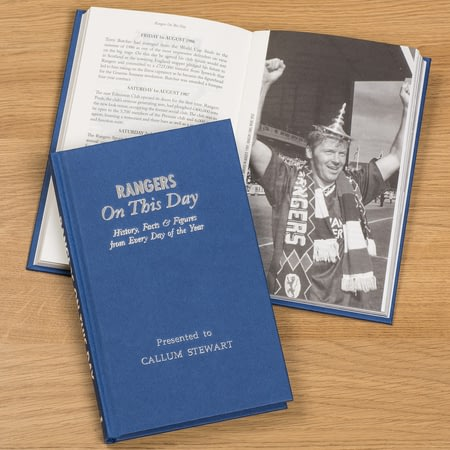 Personalised Rangers On This Day Football History Book