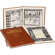 Personalised Rugby World Cup Newspaper Book - Leather Cover