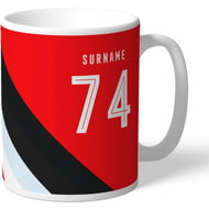 Personalised Southampton Stripe Mug