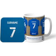 Personalised Birmingham City Dressing Room Shirts Mug & Coaster Set