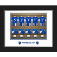 Personalised Brighton & Hove Albion FC Dressing Room Shirts Photo Folder