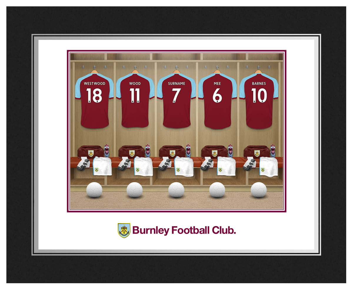 5eb76e784ab Personalised Burnley FC Dressing Room Shirts Photo Folder from Go Find A  Gift