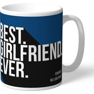 Personalised Cardiff City Best Girlfriend Ever Mug