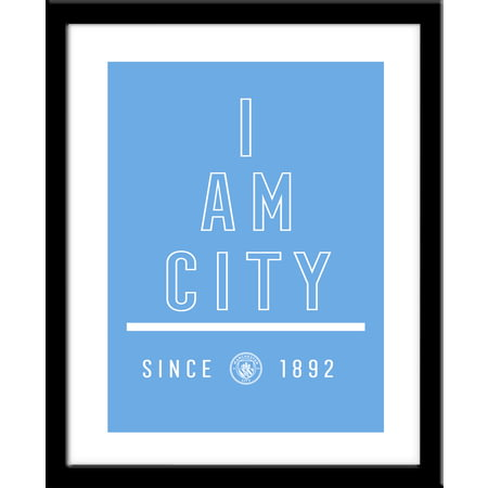 Personalised Manchester City FC I Am Framed Print
