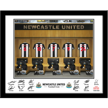 Personalised Newcastle United FC Dressing Room Shirts Framed Print
