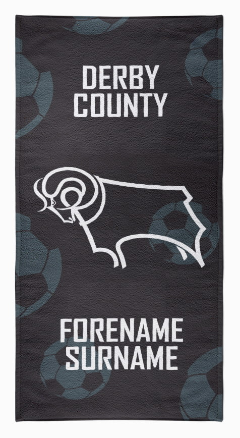Personalised Car Mats FRONT - PATTERNED Derby County F.C