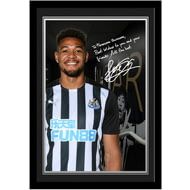 Personalised Newcastle United FC Joelinton Autograph Photo Framed
