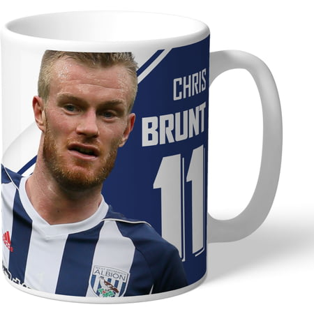 Personalised West Bromwich Albion FC Brunt Autograph Mug