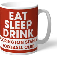 Personalised Accrington Stanley Eat Sleep Drink Mug