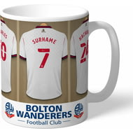 Personalised Bolton Wanderers FC Dressing Room Shirts Mug