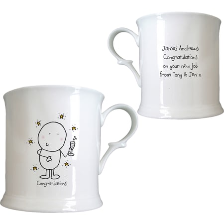 Personalised Chilli & Bubble's Congratulations Half Pint Tankard