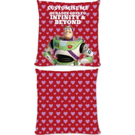 "Personalised Toy Story Buzz Valentines ""Infinity & Beyond"" Cushion - 45x45cm"