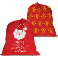 Personalised Manchester United FC Merry Christmas Santa Sack
