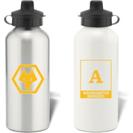 Personalised Wolves FC Monogram Aluminium Water Bottle