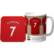 Personalised Southampton Dressing Room Shirts Mug & Coaster Set