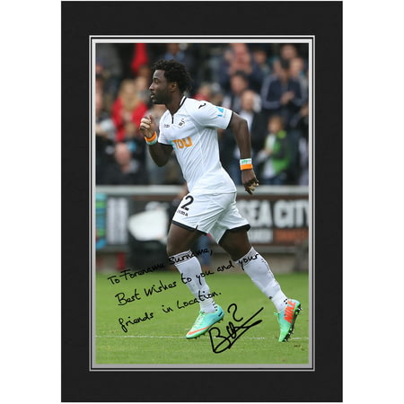 Personalised Swansea City AFC Bony Autograph Photo Folder