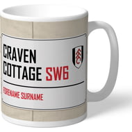 Personalised Fulham FC Craven Cottage Street Sign Mug