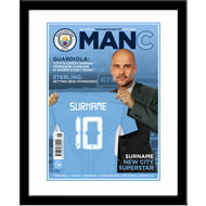 Personalised Manchester City FC Magazine Front Cover Framed Print