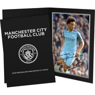 Personalised Manchester City FC Sane Autograph Photo Folder